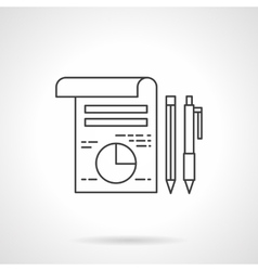 Business planning icon line design icon vector image