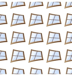 white windows seamless vector image