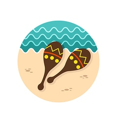 Maracas icon summer vacation vector