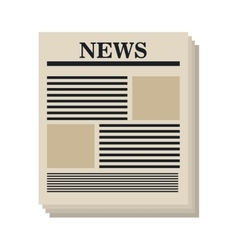 Newspaper isolated flat icon vector