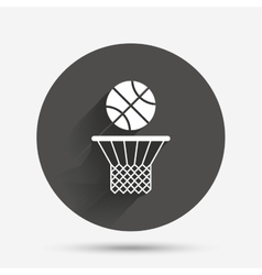 Basketball basket and ball icon sport symbol vector