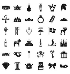 Amulet icons set simple style vector
