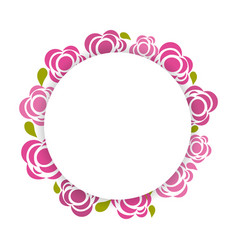 Beauty flowers round borders decoration vector