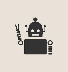 Cute vintage robot icon vector