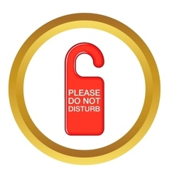 Do not disturb red sign icon vector image