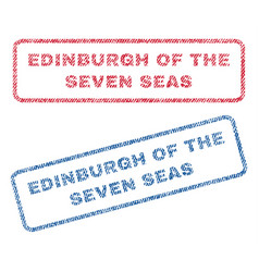 Edinburgh of the seven seas textile stamps vector