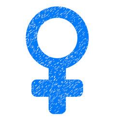 Female symbol grunge icon vector