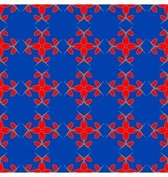 Flowers geometric seamless pattern 1906 vector image vector image