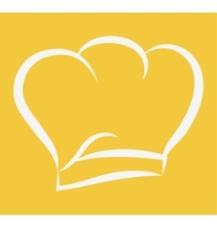 Hat silhouette of restaurant chef design vector