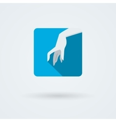 icons with a graceful female hand in a vector image