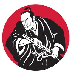 japanese samurai warrior vector image