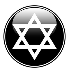 Magen David symbol button vector image