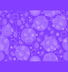 memphis seamless pattern with christmas balls and vector image vector image