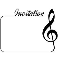 music invitation vector image vector image