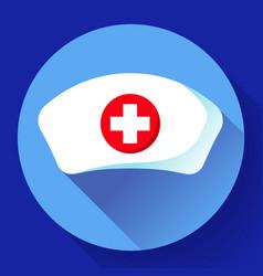 Nurse hat icon flat nurse icon vector