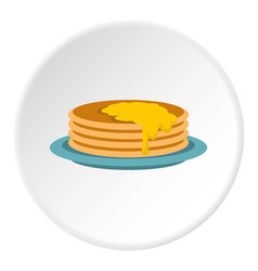 Pancakes icon circle vector