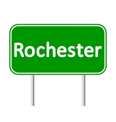 Rochester green road sign vector
