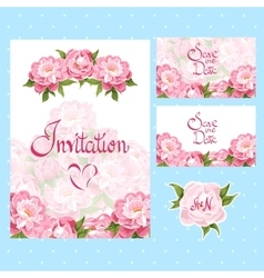 set of invitation cards vector image vector image