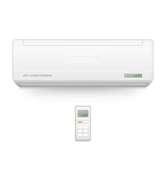 Split system air conditioner Cool and cold vector image