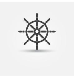 Steering wheel - symbol or icon vector image