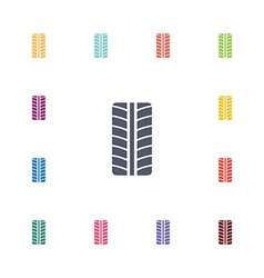 Tire flat icons set vector