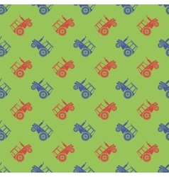 Tractor icon seamless pattern vector