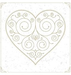 Vintage heart luxury logo sign or symbol vector image vector image