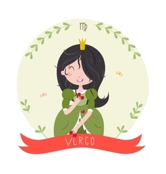 Virgo cute horoscope vector image vector image