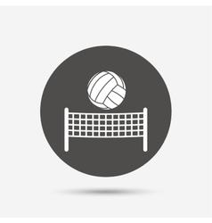 Volleyball net ball icon Beach sport symbol vector image