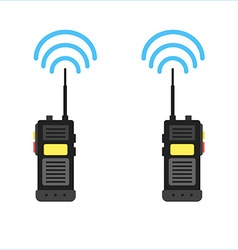 walkie talkie icon police radio online vector image