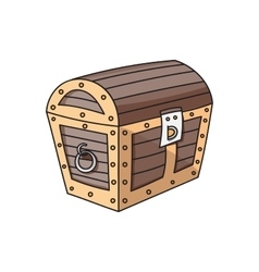 Wooden box chest vector