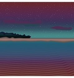 Dark sea landscape vector