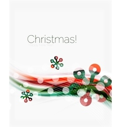 Snowflakes on wave line christmas and new year vector