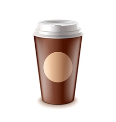 Take away coffee isolated vector