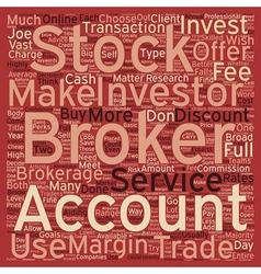 Stock Brokers text background wordcloud concept vector image
