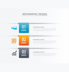 business index infographics template with 3 data vector image