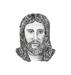 Jesus christ front view vector