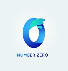 Number zero in trend shape style vector