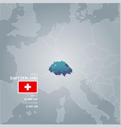 switzerland information map vector image