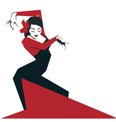 Flamenco dancer in expressive impressive pose vector