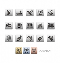 wireless and communications vector image
