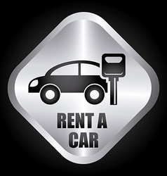 Rent car design vector