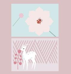 Creative cards design vector image