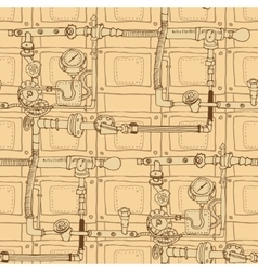 Seamless pattern in the style of steam punk vector