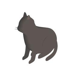 Black cat isometric 3d icon vector image