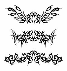 Tribal bracelets with flowers vector