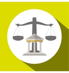 Law and justice balance design vector