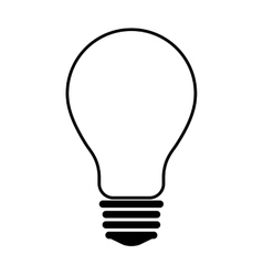 Light bulb icon energy design graphic vector