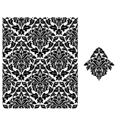 Seamless background with floral pattern vector