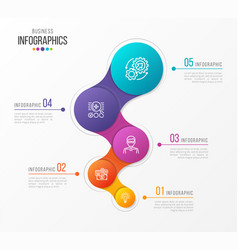 abstract infographic design 5 steps vector image vector image